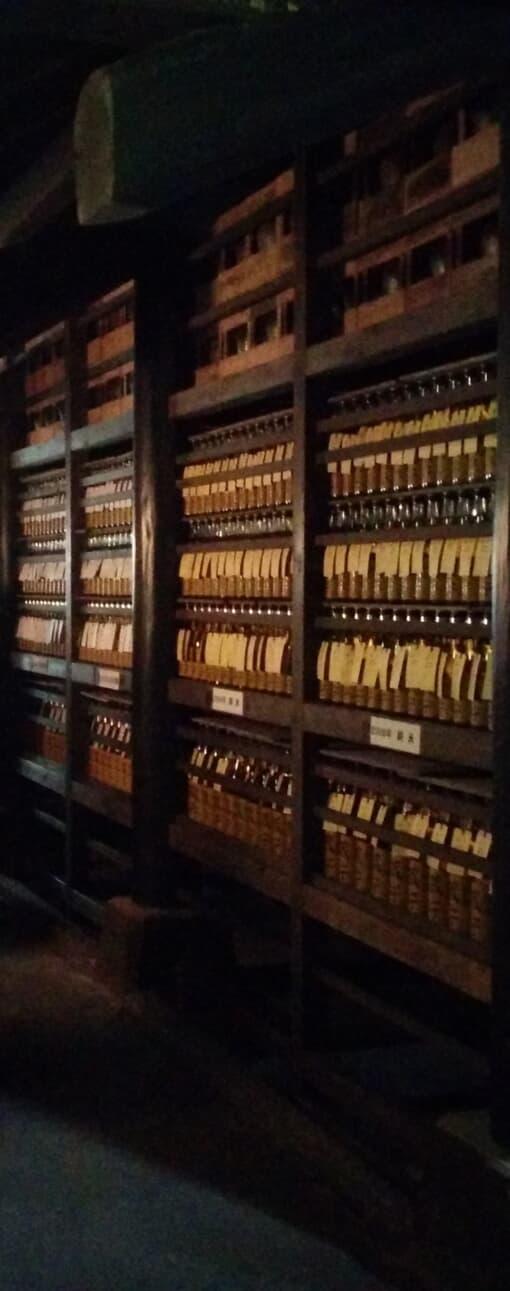 小澤酒造 蔵守 貯蔵棚