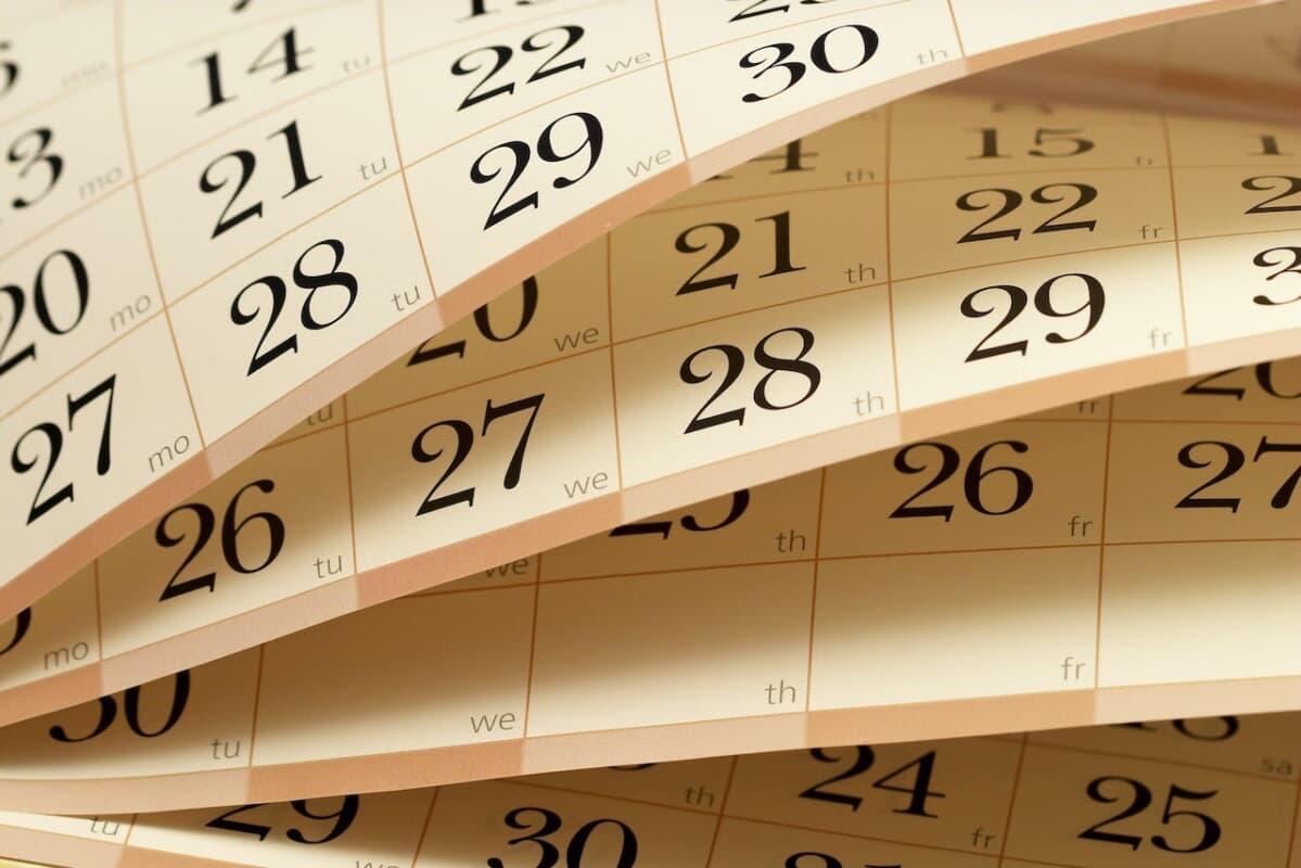 営業日 カレンダー